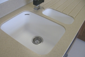 Corian Seamless One And A Half Sink